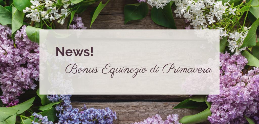 Bonus Equinozio di Primavera ©righeepois